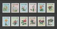 TANZANIA 1996 FLOWER DEFINITIVES (SG2075/86) *VF MNH*