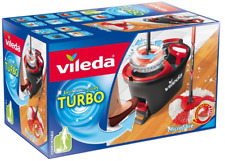 Vileda Microfibre Quick Pedal Dry Easy Wring and Clean Turbo Mop and Bucket Set
