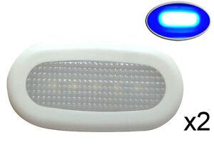 Pactrade Marine 2PCS Boat Blue LED Courtesy Light Surface Mount Splashproof 0.4W