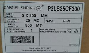 Halbschlauch-Schrumpffolie 300 mm, 25 µm, Verpackungsfolie, shrinkfilm 800m