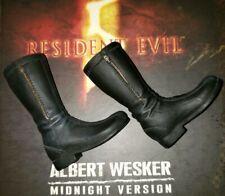 Hot Toys VGM08 Resident Evil 5 Albert Wesker Midnight Version Black Rubber Boots