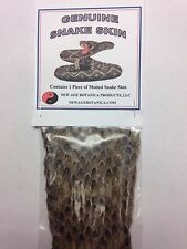"""GENUINE MOLTED SHED SNAKE SKIN 1 PIECE APPROX 2"""" X 3"""" WICCA SANTERIA VOODOO PALO"""