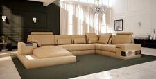 Wohnlandschaft Polster Couch Garnitur XXL Big Sofa Bellini Design Ledersofa Neu