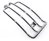 Gepäckträger chrom für Honda Suzuki Yamaha Motorrad Luggage Rack chrom