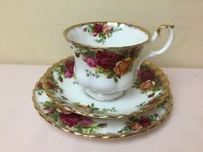 Royal Albert Old Country Roses Tea Trio Cup Saucer & Side Plate Early Stamp 1st