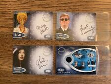 Men In Black Ii Lot Of 4 Cards Autograph & Pieceworks Cards