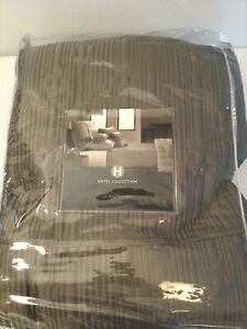 """HOTEL COLLECTION Taupe/Brown Cal King Quilted Coverlet. 104""""X106"""". Orig $340 NEW"""