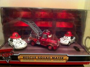 Disney Store Cars Exclusive Rescue Squad Mater with Dalmatian Mia & Tia Diecast