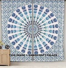 Indian Peacock Mandala Curtain Living Room Window Curtain Cotton Hippie Tapestry