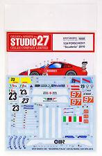 """Studio27 ST27-DC872 GT3R Porsche911 """"Scuderia"""" 2010 Decal for Fujimi 1/24"""