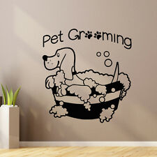 Pet Wall Decal Dog Grooming Salon Decals Vinyl Stickers Dog Puppy Pet Shop Z856