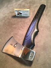 Custom Polished Flying Fox Uncle PimpysThrowing axe hatchet Jesse Reed handle