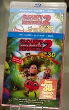 Cloudy With A Chance of Meatballs 2 3D Blu Ray Combo Set - NEW! Better than UK!