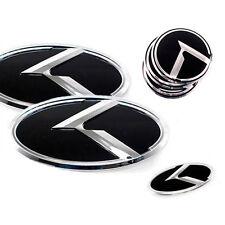 3D K Logo Front Grill Trunk Emblem 7p For 2012 2014 Kia Rio:All New Pride 4d 5d