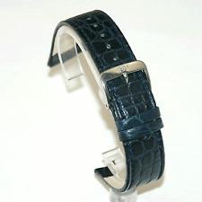 Di Modelo Croco flanc Azul Oscuro Correa: real Cocodrilo: 18 mm / 20 mm / 22mm (p8)