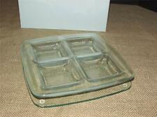 PartyLite 2 Piece Unique Glass STRATUS Candle Trays Hostess Exclusive New