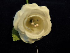 "Millinery Flower Perfect 1"" Doll Size Rose Kq6 White"