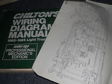 1984 CHEVROLET S AND T SERIES TRUCKS S10 S15 WIRING DIAGRAMS SHEETS SET