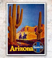 "Vintage Travel Poster Arizona Art Print 11x14""  Rare Hot New A334"