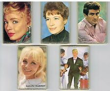 LOT ANCIENS PETITS MIROIRS ANNEES 50 / 60 EDDY MITCHELL ISABELLE AUBRET ETC...