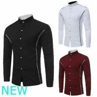 Floral Top Mens Slim Fit Shirt Stylish Casual Long Sleeve Dress Shirts Luxury