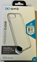 "Speck Presidio Clear Durable Transparent Case for iPhone 8 / 7 (4.7"") - MSRP $40"