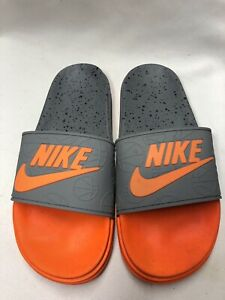 Mens Nike Flip Flops Orange  Slides Beach Pool Sandals Slippers Size 09(43eu)