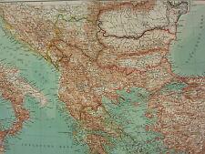 1907 DATED MAP ~ BALKAN PENNINSULA ~ GREECE MACEDONIA BULGARIA