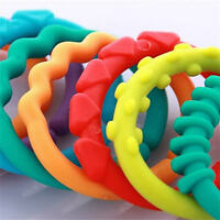 New 24pcs Plastic Teether Baby Stroller Gym Play Toys Rainbow  Ring Safety AU