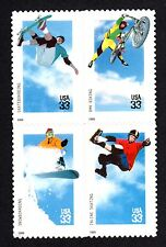 3321-24 Extreme Sports  BLOCK of 4 IN CORRECT ORDER Mint Never Hinged