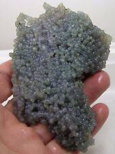 92g  Indonesia 100% Natural Blue Grape Chalcedony Cluster Specimen 3 1/4 oz 93mm