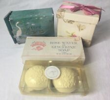 Vintage Lot 8 Assorted Scented Bar Soap Water Flower Colonial Garden French Mill