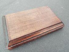 Mahogany Finish Rectangle Wood Display Plaque. Display Base. Display Stand.
