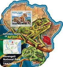 Sierra Leone 2016 MNH Serengeti National Park 1v S/S Lizards Leopards Stamps