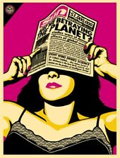 GLOBAL WARNING : SCREEN PRINT : SIGNED/NUMBERED : OBEY : SHEPARD FAIREY