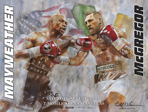 MAYWEATHER vs McGREGOR Official Onsite fight poster by Richard T. Slone 18 X 24