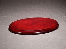De Madera Oval Pedestal Pantalla / base Modelos, Trofeos, cifras - 15,5 X 10 Cm