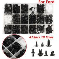 415pcs Car Push Pin   Door Panel Rivets Bumper Retainer Fastener Clip For Ford