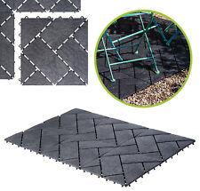 """UPP Gartenplatten """"Schiefer"""" 30 x 30 cm mit Klicksystem Terassenplatten Platten"""