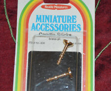 Realife Miniatures Miniature Accessories Candle Sticks, brass pl., Item No.808