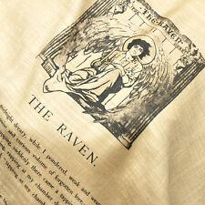 The Raven by Edgar Allan Poe Shawl Scarf Wrap, Book scarf, Raven Scarf, Gothic