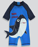 Kids UVA UVB Shark Sun Safe Surf Suit Ages 2-3 and 3-4 SPF 50+ - New With Tag