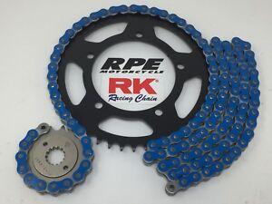 Blue 2001-06 Suzuki GSXR1000 RK GXW520 17/42 OEM Ratio Chain and Sprockets Kit