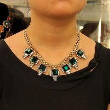 Collare Da Donna Corto Verde Smeraldo Piazza Stile Moderno Sera Matrimonio