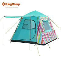 KingCamp 3-person Rainbow Quick-Up Tent 2-IN-1 Door Awning Camping Outdoor Tent