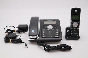 Motorola L402C Corded Phone AnswerMachine & 1 Expansion Handset w/Cradle Works
