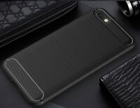 For Huawei Honor 7s Case Carbon Fibre Cover & Glass Screen Protector