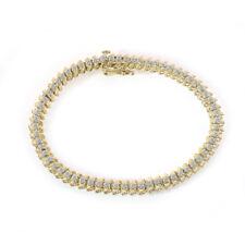 2.00 Carat Round Brilliant Cut Diamond Tennis Bracelet 10K Yellow Gold