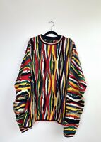 Bergati Coogi style Sweater Australia Biggie 3D Hip Hop Fire Sweater 3X Big Tall