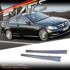 AMG Pack Style Side Skirt for Mercedes-Benz C-Class C204 Coupe 2011-2015 Bodykit